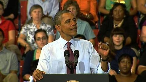 PBS NewsHour -- President Obama Takes American Jobs Act on the Road