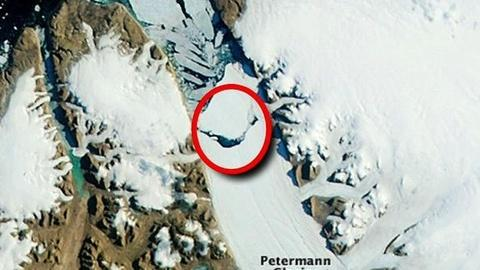 PBS NewsHour -- Greenland Goes Green: Ice Sheet Melted in Four Days