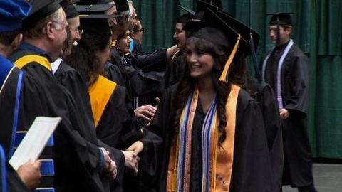 PBS NewsHour -- In Texas, Luring Students Back By Sending Them to College