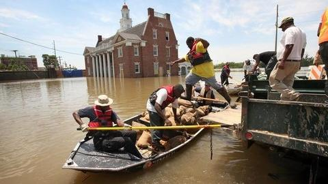 PBS NewsHour -- All Eyes on Mississippi River Levees, Spillways as Flood...