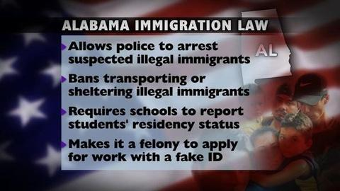 PBS NewsHour -- Alabama's Immigration Law: Radical or Within Reason?
