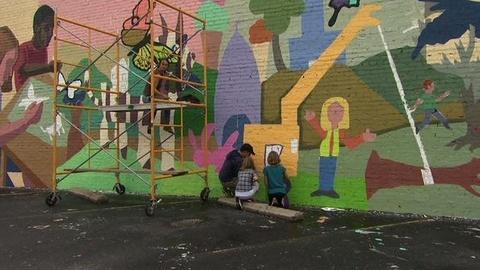 PBS NewsHour -- Joplin Mural Tells Story of Storm Devastation