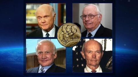 PBS NewsHour -- Congress Honors 4 Astronauts With Highest Civilian Honor