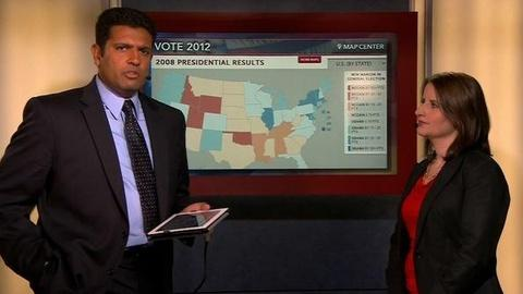PBS NewsHour -- Map Center: What If the Battleground States Go Red?