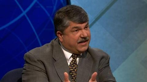PBS NewsHour -- AFL-CIO's Trumka: No American Should Face Choice Between...