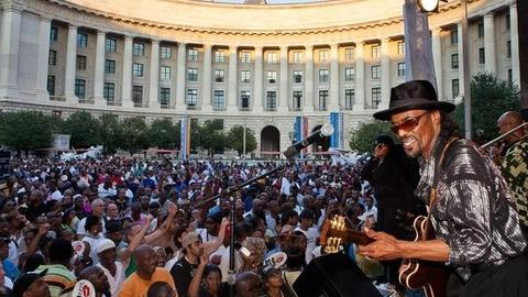 "PBS NewsHour -- Chuck Brown Performs ""Wind Me Up!"""
