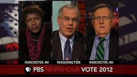 PBS NewsHour -- Shields, Brooks Reflect on Romney's New Hampshire Victory