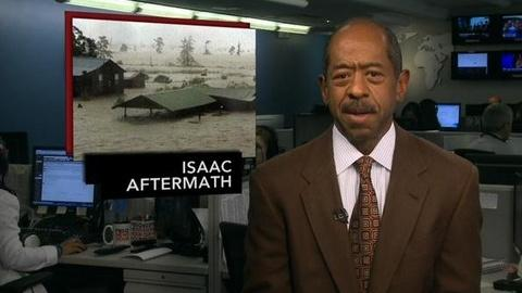 PBS NewsHour -- News Wrap: As Storm Isaac Pours Down, Evacuations Begin