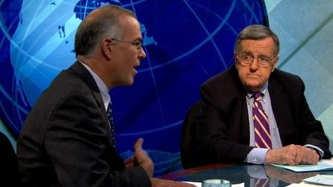 PBS NewsHour -- Shields and Brooks Preview 2012 Presidential Debate