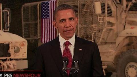 PBS NewsHour -- Obama in Afghanistan: 'Our Goal Is to Destroy al-Qaida'