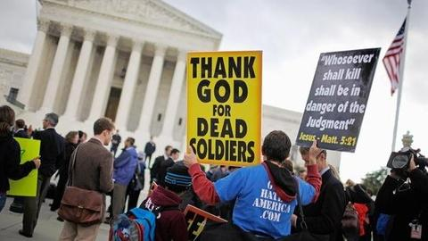 PBS NewsHour -- Supreme Court Rules for Controversial Funeral Protesters...