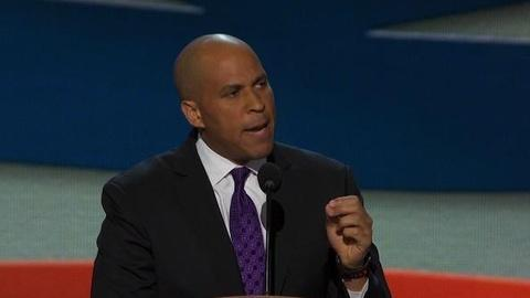 PBS NewsHour -- Mayor Cory Booker Lays out Party Platform at the DNC