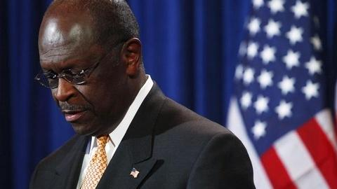PBS NewsHour -- Cain Denies Harassment Claim, Vows to Stay in Race