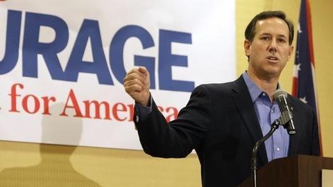 PBS NewsHour -- Santorum Says Global Warming Is Politics, Not Science