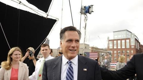 PBS NewsHour -- Gap Widening, Romney Campaign Denies Shift Message To Center