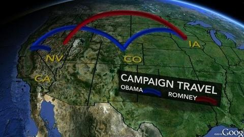 PBS NewsHour -- Obama and Romney Barnstorm Swing States in Last 13 Days