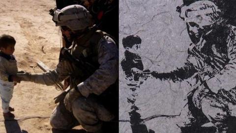 PBS NewsHour -- Veterans Shred Uniforms to Create 'Combat Paper' Artwork
