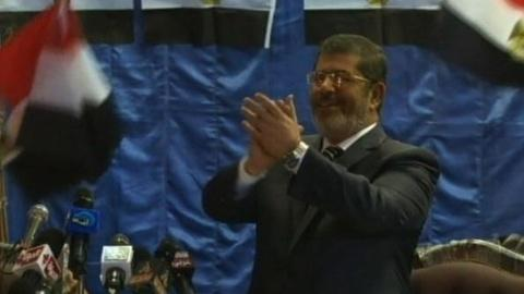 PBS NewsHour -- Egypt's President-elect Morsi Promotes 'Message of Peace'