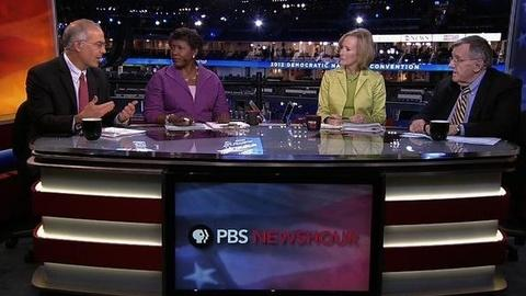 PBS NewsHour -- Shields and Brooks on the DNC, Platform Agenda