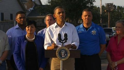 PBS NewsHour -- President Obama visits New Orleans Hurricane Isaac
