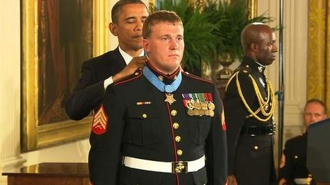 PBS NewsHour -- Marine's Actions in Afghanistan Earn Medal of Honor,...