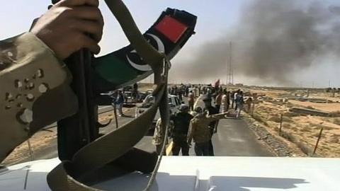 PBS NewsHour -- Libyan Rebels Advance on Moammar Gadhafi's Hometown