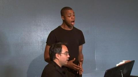 PBS NewsHour -- Davone Tines sings from I Puritani by Bellini