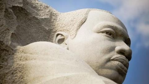 PBS NewsHour -- MLK Memorial Emerges From Stone on National Mall, After...