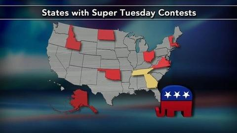 PBS NewsHour -- Super Tuesday: Which Candidates Will Show Strength in South?