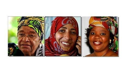 PBS NewsHour -- 3 Women 'at Forefront of Peace for Years' Honored With...