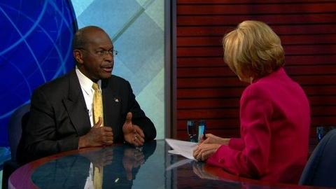 PBS NewsHour -- Cain Confident He Can Win Nomination, Says Harassment...