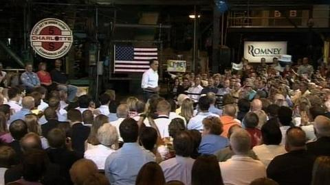 PBS NewsHour -- Romney, Obama Shift Campaign Focus Back to Economy