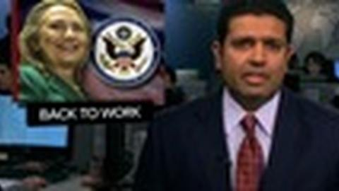 PBS NewsHour -- News Wrap: Hillary Clinton Returns to Work After Illness