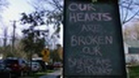 PBS NewsHour -- Memorials, Flags at Half-Staff Mark Mourning in Newtown