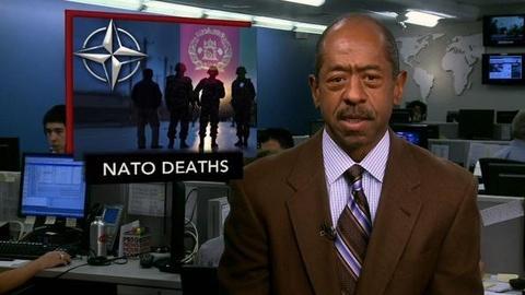 PBS NewsHour -- News Wrap: Taliban Bombers Attack NATO