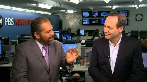 PBS NewsHour -- Jeffrey Brown, Ray Suarez Talk Armstrong, Cycling and Doping
