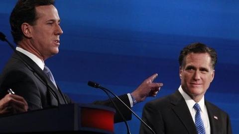 PBS NewsHour -- Sizing up Romney, Santorum Campaigns in Arizona, Michigan
