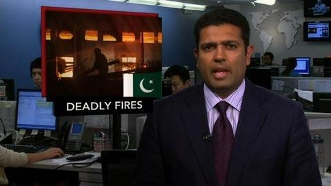 PBS NewsHour -- News Wrap: Factory Fires in Pakistan Claim Hundreds of Lives