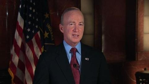 PBS NewsHour -- Gov. Mitch Daniels Deliver the GOP Response to the SOTU
