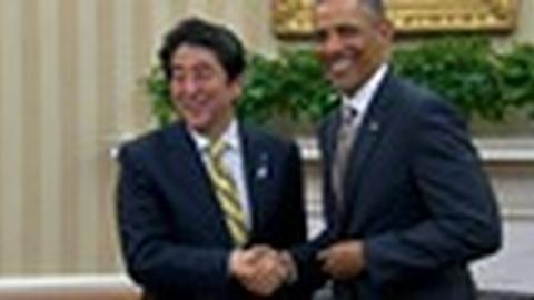 PBS NewsHour -- China Looms as Main Concern in Obama and Abe Meeting