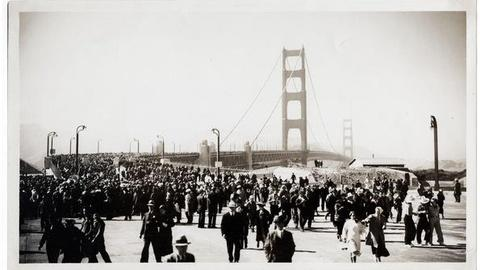 PBS NewsHour -- As Golden Gate Bridge Turns 75, Its History Is Revised