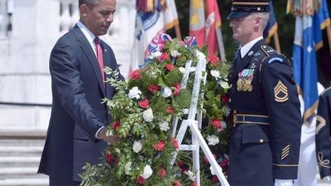 PBS NewsHour -- Obama, Romney Honor Nation's Fallen