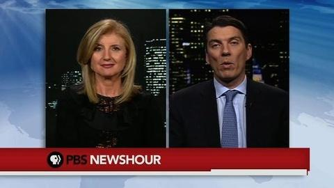 PBS NewsHour -- Huffington, AOL CEO on Shared Vision for Online Content