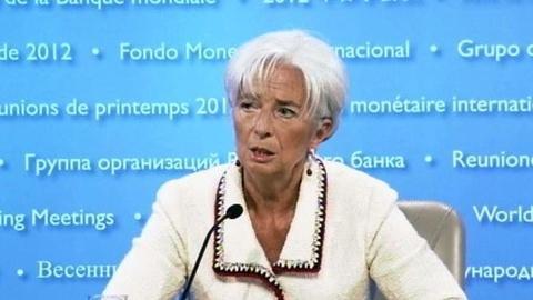 PBS NewsHour -- Lagarde: Global Economy Sees 'Dark Clouds on the Horizon'