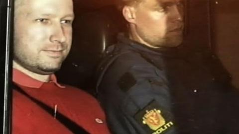 PBS NewsHour -- Breivik Taken to Utoya to Confirm Attack Details,...