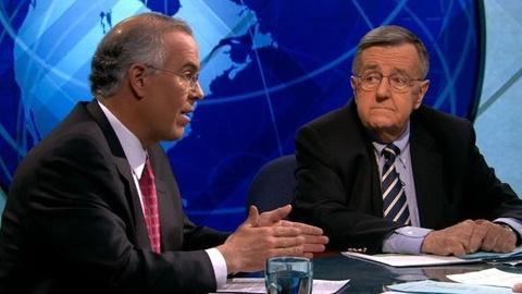PBS NewsHour -- Shields, Brooks on Santorum's Exit, Romney's Poll Woes