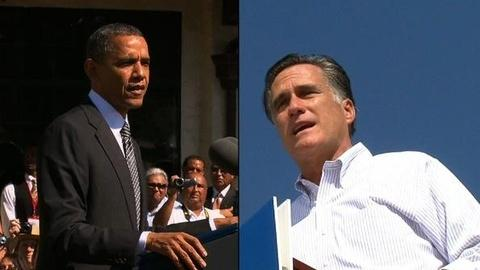 PBS NewsHour -- Romney Cuts into Obama's Lead, Both Vie for Swing States