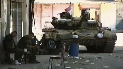 PBS NewsHour -- Silent Stalemate in Homs, Rebel and Regime Snipers Face-off