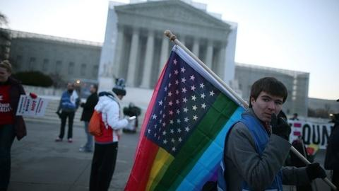 PBS NewsHour -- High Court Hears Challenge to Same-Sex Marriage Ban