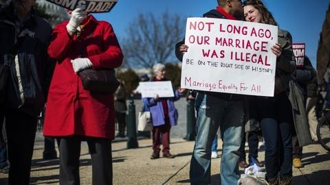 PBS NewsHour -- Debating Discrimination in Defense of Marriage Act